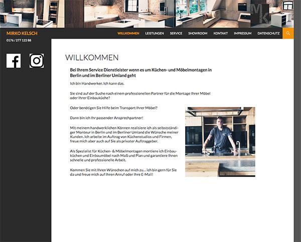 Design zur Webseite www.kuechenmontageberlin.de
